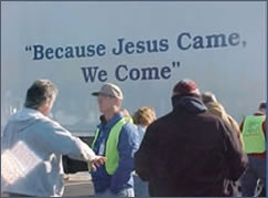 Because Jesus came, we come.